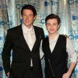 """Cory Monteith et Chris Colfer, jeune acteur ouvertement homosexuel, qui lui donnait la réplique dans la série """"Glee"""". Ici au People's Choice Awards à Los Angeles, le 5 janvier 2011."""