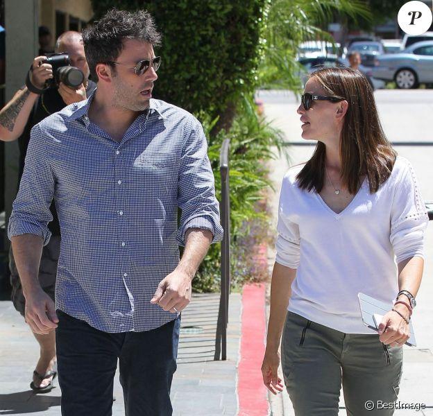 Ben Affleck et Jennifer Garner à Encino, le 16 juillet 2013.