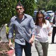 Ben Affleck et Jennifer Garner (avec un petit baby-bump) en rendez-vous à Encino, Californie, le 16 juillet 2013.