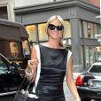 Heidi Klum arrive à son hôtel a New York. Le 23 juillet 2013.