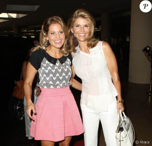 Candace Cameron Bure et Lori Loughlin lors du Hallmark Channel and Hallmark Movie Channel Summer Television Critics Association, au Beverly Hilton Hôtel, le 24 juillet 2013