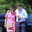 Exclusif - Nick Clegg (Vice-Premier ministre du Royaume-Uni) en vacances avec sa femme Miriam et ses enfants Antonio, Miguel et Alberto à Olmedo en Espagne le 25 juillet 2013.