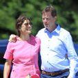 Exclusif - Nick Clegg (Vice-Premier ministre du Royaume-Uni) passe ses vacances avec sa femme Miriam et ses enfants Antonio, Miguel et Alberto à Olmedo en Espagne le 25 juillet 2013.