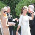 Nadja Schildknecht au mariage de Tina Turner avec Erwin Bach sur les rives du lac de Zurich en Suisse le 21 juillet 2013