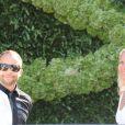 DJ Bobo et sa femme Nancy au mariage de Tina Turner avec Erwin Bach sur les rives du lac de Zurich en Suisse le 21 juillet 2013