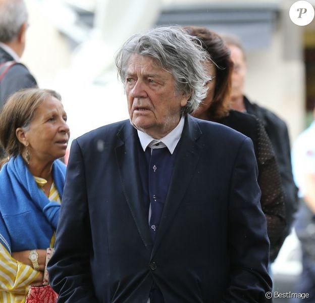 Jean-Pierre Mocky lors des funérailles de Bernadette Lafont au temple de Saint-André-de-Valborgne dans le Gard le 29 juillet 2013