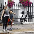 Gwen Stefani et ses fils Kingston et Zuma à Londres, le 28 juillet 2013.