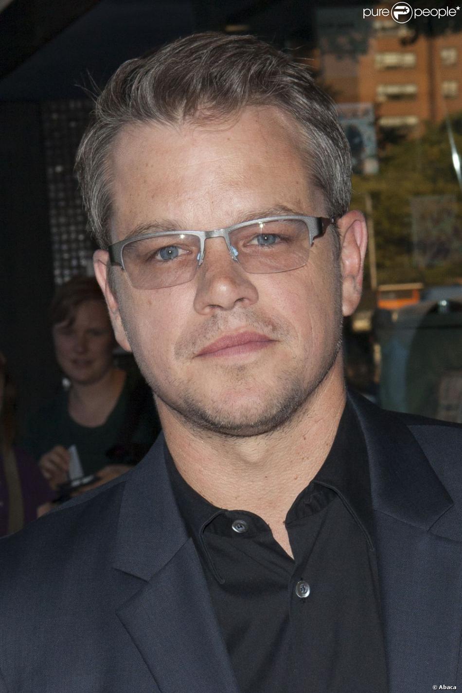Matt Damon chic lors d'une première du film Elysium au Sunshine Landmark de New York, le 30 juillet 2013.