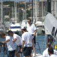 Le prince Felipe d'Espagne, talentueux skipper, a mené le voilier Aifos à la victoire le 1er août 2013 au 4e jour de la Copa del Rey, au large de Palma de Majorque.