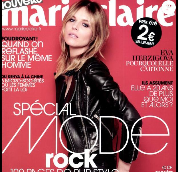 Eva Herzigova en couverture du magazine Marie Claire France