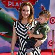 Alyssa Milano et son petit Milo à l'avant-première mondiale de Planes, à Los Angeles, le 5 août 2013