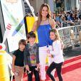 Brooke Burke en famille à l'avant-première de Planes à Los Angeles, le 5 août 2013