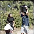 Matthew McConaughey et sa compagne camilla Alves promènent bébé