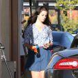 Lana Del Rey et son amoureux Barrie James O'Neill à Los Angeles, le 9 août 2013.