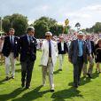 Le Prince Charles au match de polo Angleterre-Australie
