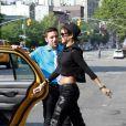 Rihanna quitte le restaurant Dasilvano et retourne à l'hôtel Gansevoort. New York, le 13 août 2013.