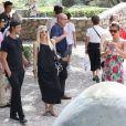 Gwen Stefani et son mari Gavin Rossdale, Bono et sa femme Ali Hewson, Helena Christensen et son compagnon Paul Banks (du groupe de rock Interpol) visitent la Fondation Maeght à Saint-Paul de Vence. Le 8 aout 2013.