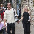 Gwen Stefani et son mari Gavin Rossdale visitent la Fondation Maeght à Saint-Paul de Vence, le 8 aout 2013.