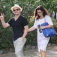 Bono et sa femme Ali Hewson visitent la Fondation Maeght à Saint-Paul de Vence, le 8 aout 2013.