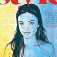 Miranda Kerr, dessinée par David Bromley pour la couverture du magazine Sunday Style. Semaine du 18 août 2013.