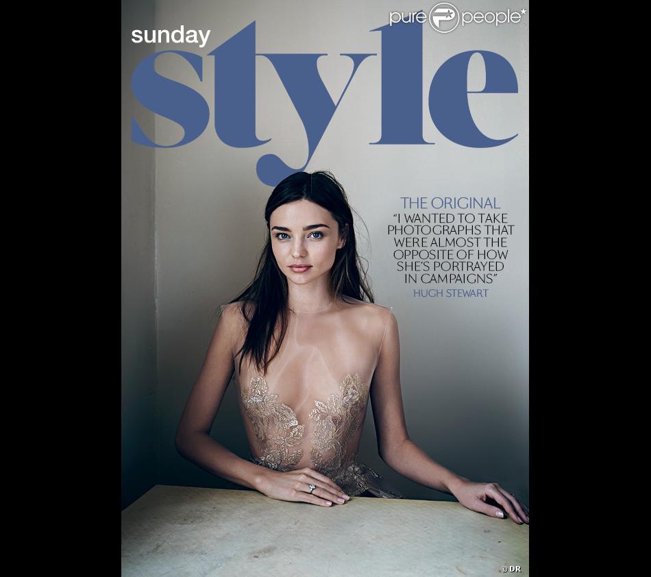 Miranda Kerr photographiée par Hugh Stewart, en couverture du magazine Sunday Style. Semaine du 18 août 2013.