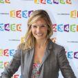 La jolie Louise Ekland à la conférence de presse de France Télévisions, à Paris, le 28 août 2012.