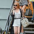 Lindsay Lohan en bonne forme à New York, le 30 août 2013.