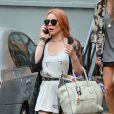 Lindsay Lohan n'est pas à Venise mais à New York, le 30 août 2013.