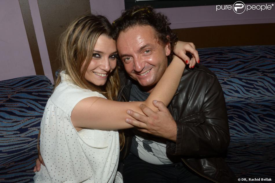 Clara (Secret Story 7) et son père Jonathan Bermudes au Duplex, à Paris, dans la nuit du vendredi au samedi 31 août 2013.