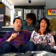 Gad Elmaleh, Florence Foresti et Elie Semoun dans La Télé Commande sur France 2 dans Jusqu'ici tout va bien, à partir du 16 septembre à 18h