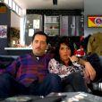Gad Elmaleh et Florence Foresti dans la pastille d'Elie Semoun, La Télé Commande sur France 2 dans Jusqu'ici tout va bien, à partir du 16 septembre à 18h