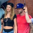 Adam Levine et Behati Prinsloo dans le quartier de SoHo à New York. Le 2 septembre 2013.