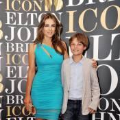 Elizabeth Hurley : Canon avec son fils Damian pour son parrain Elton John