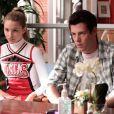 """Dianna Agron et Cory Monteith dans la saison 1 de """"Glee"""" (2009-2010)."""