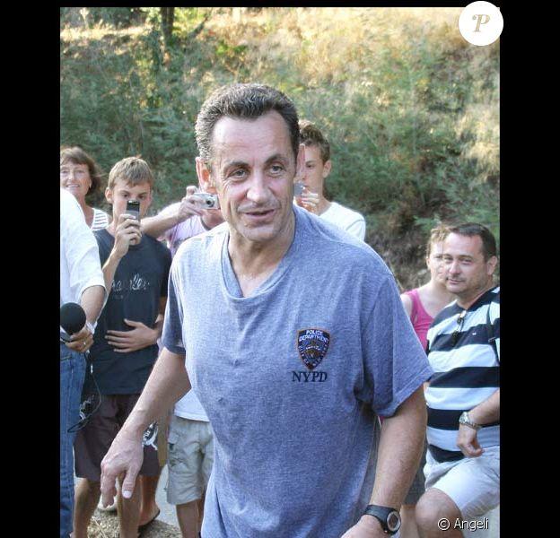 Le Président fait son jogging près du Cap Nègre, le 29/07/08