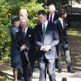 La famille royale de Suède lors de l'hommage rendu le 8 septembre 2013 à feue la princesse Lilian, décédée le 10 mars, en l'église anglicane St Peter et St Sigfrid de Stockholm.