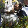 Le prince Carl Philip de Suède lors de l'hommage rendu le 8 septembre 2013 à feue la princesse Lilian, décédée le 10 mars, en l'église anglicane St Peter et St Sigfrid de Stockholm.