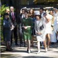 La princesse Madeleine de Suède, enceinte, était présente avec la famille royale lors de l'hommage rendu le 8 septembre 2013 à feue la princesse Lilian, décédée le 10 mars, en l'église anglicane St Peter et St Sigfrid de Stockholm.