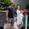 Exclusif - Adriana Lima, Marko Jaric et leurs filles Valentina et Sienna à Miami, le 15 août 2013.