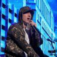 Eminem en concert pour les 30 ans de la marque G-Shock à New York, le 7 août 2013.