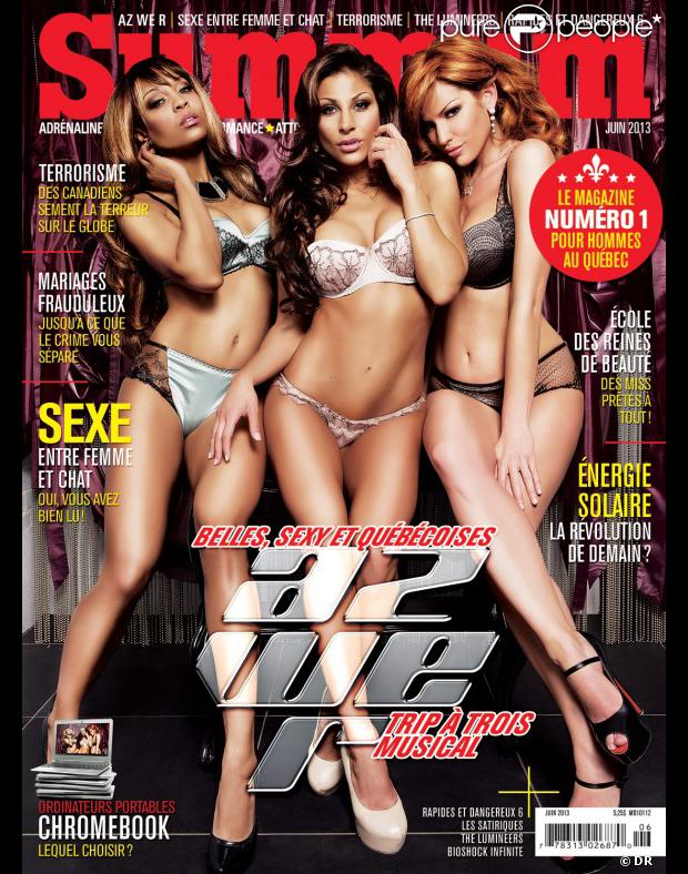 Couverture du magazine Summum, numéro de juin 2013, sur laquelle on découvre Anne-Krystel et son groupe Az We R.