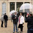 François Hollandeà l'Elysee le 14 septembre 2013 à l'occasion des Journées du patrimoine.