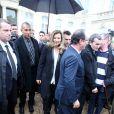 François Hollande et sa compagne Valérie Trierweiler ont accueilli au palais de l'Elysée leurs concitoyens pour la journée du patrimoine du 14 septembre 2013