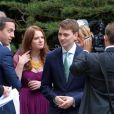 Euan Blair lors de leur mariageà Wooten Underwood, le 14 septembre 2013.