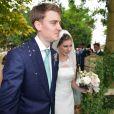 Euan Blair (fils de Tony) et Suzanne Ashman lors de leur mariageà Wooten Underwood, le 14 septembre 2013.