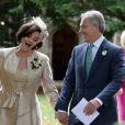 Tony Blair et Cherie Blair lors du mariage de leur fils Euan à Wooten Underwood, le 14 septembre 2013.