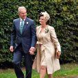 Tony Blair et Cherie Blair lors du mariage de leur fils Euan Blair à Wooten Underwood, le 14 septembre 2013.