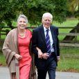 Tony Booth et sa femmelors du mariage d'Euan Blair et Suzanne Ashmanà Wooten Underwood, le 14 septembre 2013.