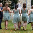 Suzanne Ashman et les demoiselles d'honneurlors du mariage d'Euan Blair et Suzanne Ashmanà Wooten Underwood, le 14 septembre 2013.