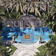 Vue aérienne de l'ancienne maison de Gianni Versace à Miami